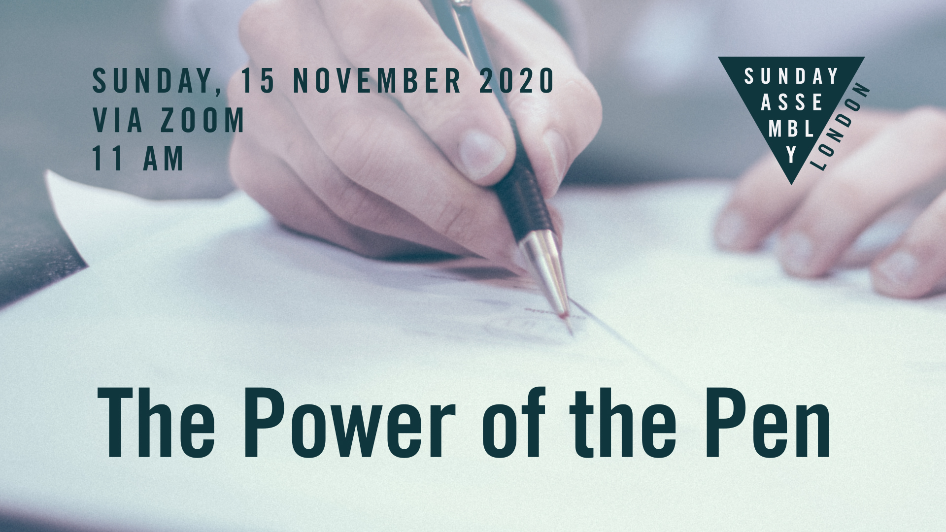Power of the pen event cover art